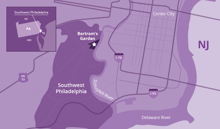 Map of southwest Philadelphia